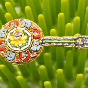 Jewelry - Vintage Micro Mosaic Italy Brooch